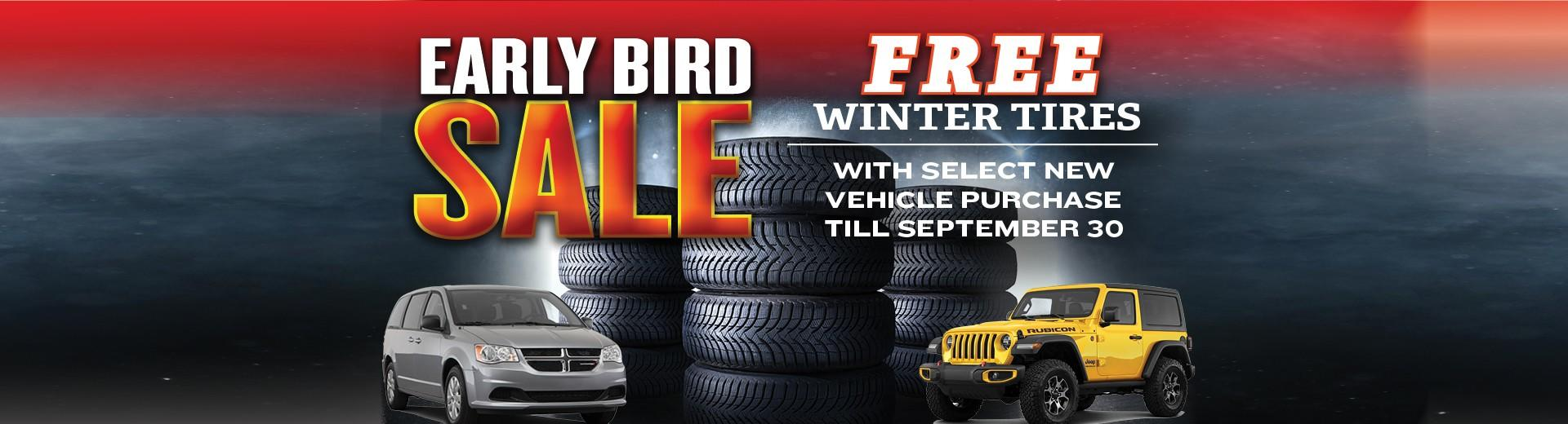 Early Bird Winter Tire Sale at Moncton Chrysler Jeep Dodge in 1365 Mountain Road